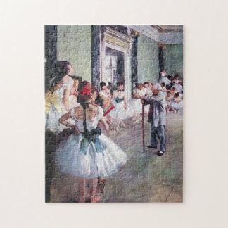 Vintage Ballet, The Dance Class by Edgar Degas Puzzles
