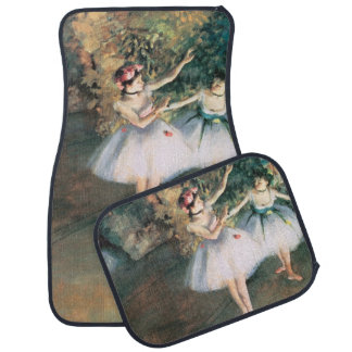 Vintage Ballet, Two Dancers on a Stage by Degas Car Mat