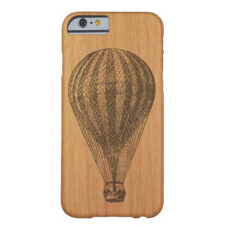 Vintage Balloon on Cherry wood Barely There iPhone 6 Case