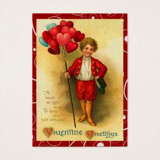 Vintage Balloon Valentine Love Notes Business Card