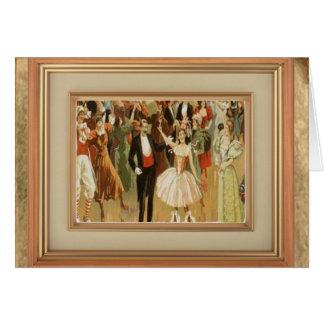 Vintage Ballroom Dance Greeting Notecard Greeting Card