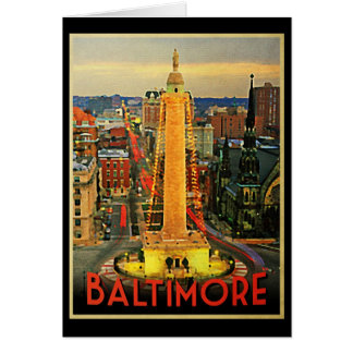 Vintage Baltimore At Dusk Card