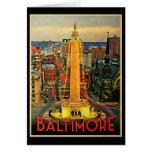 Vintage Baltimore At Dusk Cards