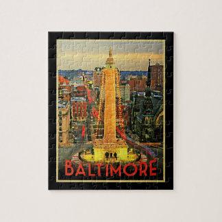 Vintage Baltimore At Dusk Puzzles