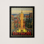 Vintage Baltimore At Dusk Puzzles