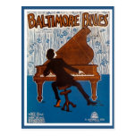 Vintage Baltimore blues music cover Postcards