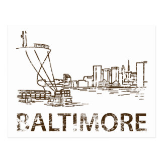 Vintage Baltimore Post Card