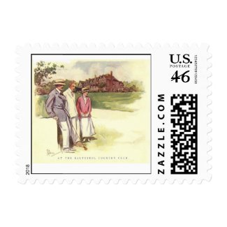 Vintage Baltusrol Country Club Postage Stamp stamp