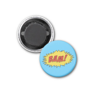 Vintage Bam! Comic Sound Effect 1 Inch Round Magnet