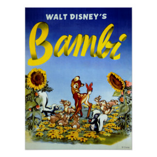 Vintage Bambi Art Poster