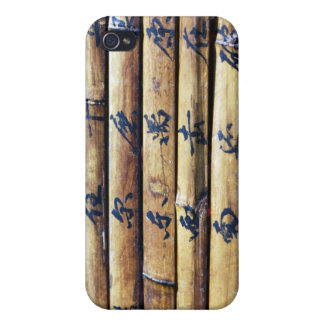 Vintage Bamboo Book Chinese Writing Design iPhone  Cases For iPhone 4