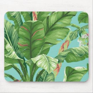Vintage Banana leaf & flower painting Mouse Pad