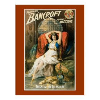 Vintage Bancroft Prince of Magicians Postcard