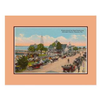 Vintage Bandstand concert Daytona Beach Florida Postcard