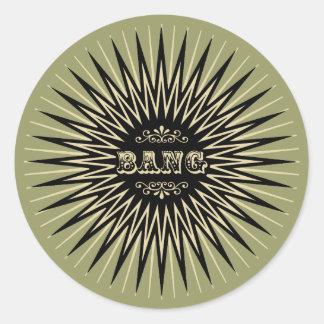 Vintage Bang Round Stickers