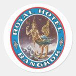 Vintage Bangkok Tailandia Etiquetas Redondas