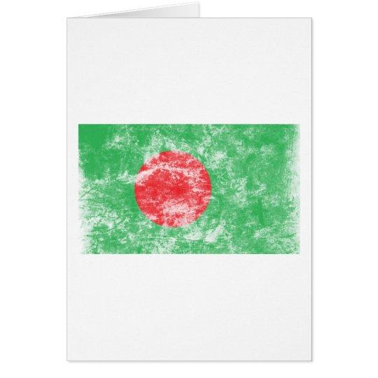 Vintage Bangladesh Flag Card