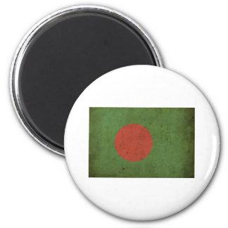 Vintage Bangladesh Imán Redondo 5 Cm