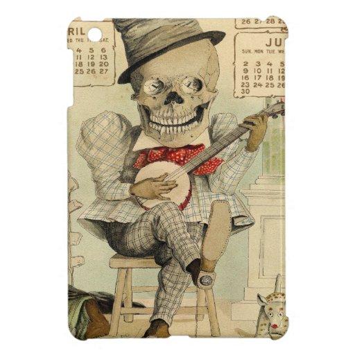 Vintage Banjo Playing Skeleton iPad Mini Cases