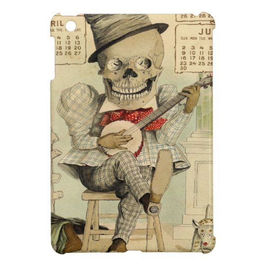 Vintage Banjo Playing Skeleton iPad Mini Covers