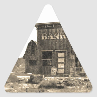 Vintage Bank Building Triangle Sticker