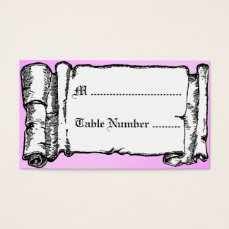 Vintage Banner Glass Slipper Custom Table Cards