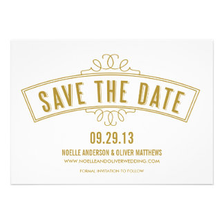 VINTAGE BANNER SAVE THE DATE ANNOUNCEMENT