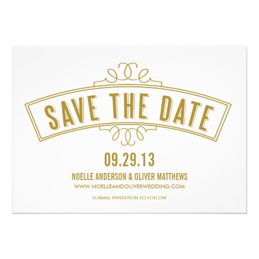 VINTAGE BANNER | SAVE THE DATE ANNOUNCEMENT