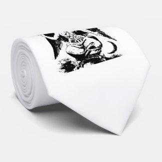 Vintage Baphomet negro Corbata