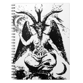 Vintage Baphomet negro Spiral Notebook