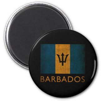Vintage Barbados Imán Redondo 5 Cm
