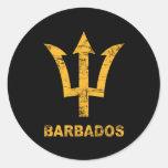 Vintage Barbados Pegatina Redonda