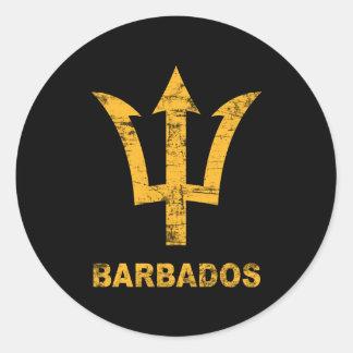 Vintage Barbados Round Sticker