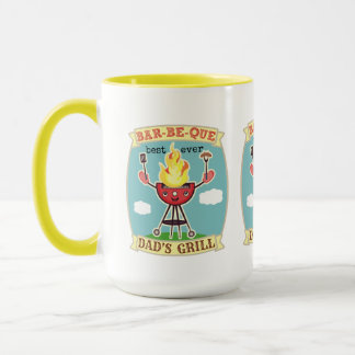 Vintage Barbeque BBQ Dad Father's Day Mug