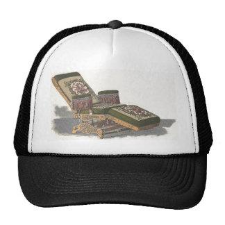 Vintage barber chair trucker hat