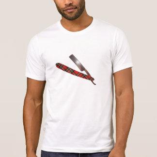 Vintage Barber Cut Throat Razor Tarton Shirt