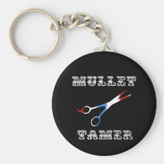 vintage barber funny  mullet tamer keychain