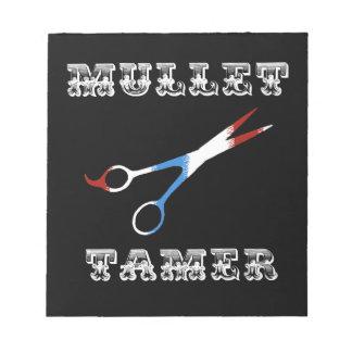 vintage barber funny  mullet tamer notepad