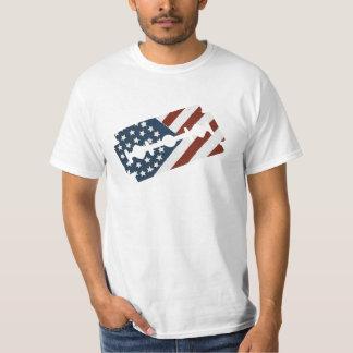 Vintage Barber Razor Blade American Flag T-Shirt