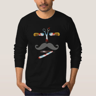 vintage barber scissors face tshirt
