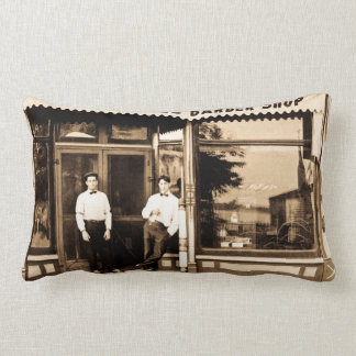 Vintage Barber Shop and Barbers Pillow