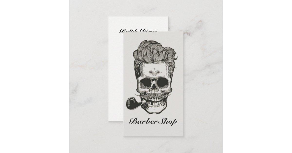 Vintage Barber Skull Scissors