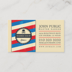 Barber shop business cards zazzle vintage barber shop business card colourmoves