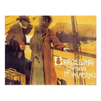 Vintage Barcelona Ciudad Postal