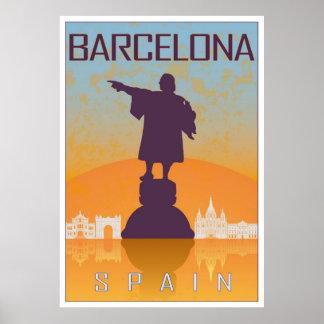 Vintage Barcelona poster