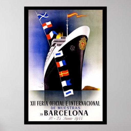 Vintage barcelona travel poster zazzle - Mobles vintage barcelona ...