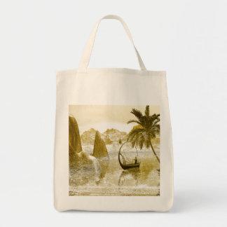 Vintage, barco de la lámpara bolsa tela para la compra