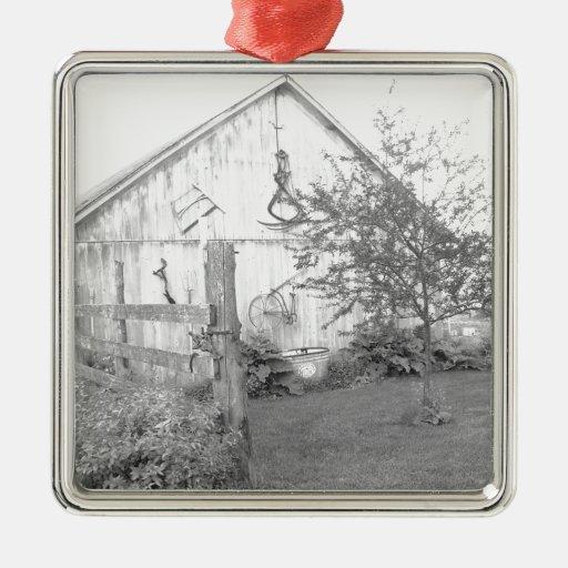 Vintage Barn Christmas Ornament