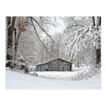 Vintage Barn in Fresh Snow - Rural Tennessee Post Cards