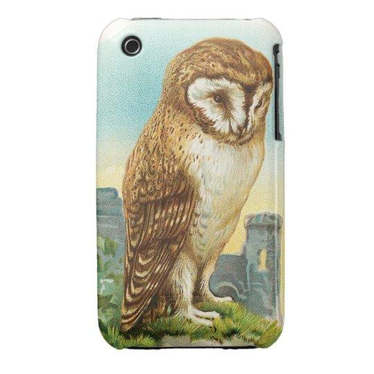 Vintage Barn Owl Case-Mate iPhone 3 Case